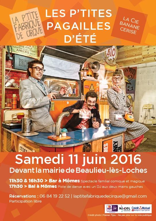 Les P'tites Pagailles d'Été – Le Bar à Mômes et Le Bal à Mômes – Cie Banane Cerise – 11 juin 2016