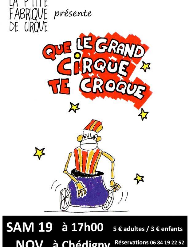 Les P'tites Pagailles d'Automne – Que le Grand Cirque te Croque – Cie du Chat Fou – 19 Novembre 2016